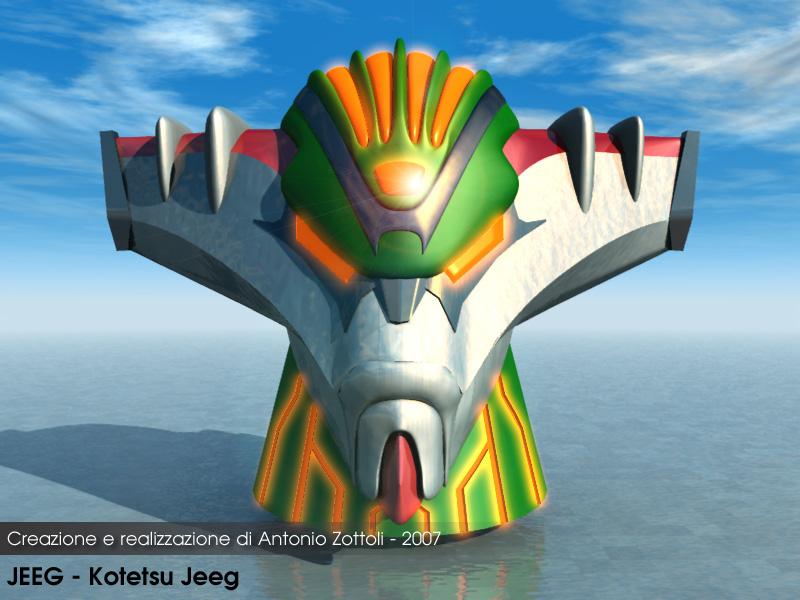 Jeeg 3D by Antonio Zottoli